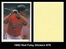 1993 Red Foley Stickers #78