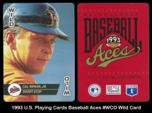 1993 US Playing Cards Baseball Aces #WCO Wild Card