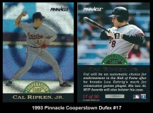 1993 Pinnacle Cooperstown Dufex #17