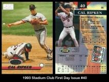 1993 Stadium Club First Day Issue #40