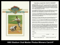 1993 Stadium Club Master Photos Winners Card #7