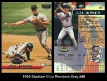 1993 Stadium Club Members Only #40