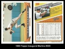 1993 Topps Inaugural Marlins #300