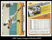 1993 Topps Inaugural Rockies #300