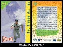1993 Fun Pack #218 FOLD