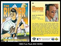 1993 Fun Pack #32 HERO
