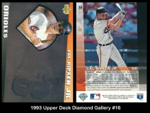 1993 Upper Deck Diamond Gallery #16