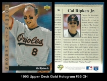1993 Upper Deck Gold Hologram #36 CH