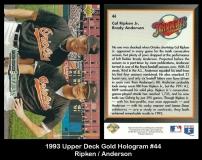 1993 Upper Deck Gold Hologram #44