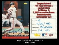 1994 Classic #AU1 Game 112