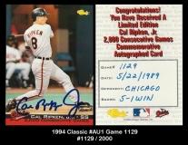 1994 Classic #AU1 Game 1129