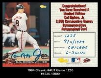 1994 Classic #AU1 Game 1235