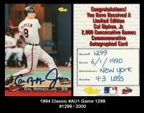 1994 Classic #AU1 Game 1299