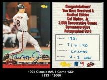 1994 Classic #AU1 Game 1331