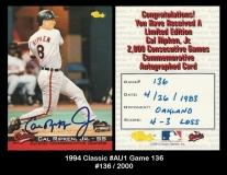 1994 Classic #AU1 Game 136