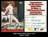 1994 Classic #AU1 Game 1427