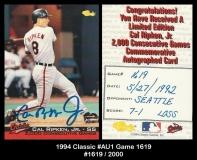 1994 Classic #AU1 Game 1619