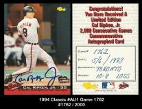 1994 Classic #AU1 Game 1762