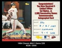 1994 Classic #AU1 Game 226