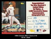 1994 Classic #AU1 Game 318