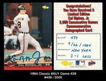 1994 Classic #AU1 Game 439