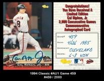 1994 Classic #AU1 Game 459
