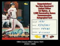 1994 Classic #Au1 Game 1531