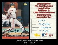 1994 Classic #Au1 Game 1573