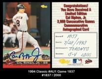 1994 Classic #Au1 Game 1837
