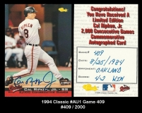 1994 Classic #Au1 Game 409