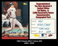 1994 Classic #Au1 Game 462