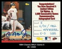 1994 Classic #Au1 Game 5