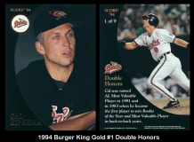 1994 Burger King Gold #1 Double Honors