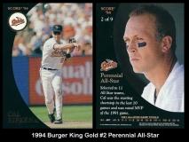 1994 Burger King Gold #2 Perennial All-Star