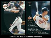1994 Burger King Gold #3 Peerless Power