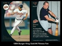 1994 Burger King Gold #4 Fitness Fan