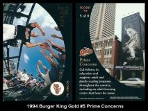 1994 Burger King Gold #5 Prime Concerns