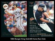 1994 Burger King Gold #6 Home Run Club