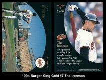1994 Burger King Gold #7 The Ironman