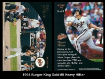 1994 Burger King Gold #8 Heavy Hitter