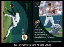 1994 Burger King Gold #9 Gold Gover