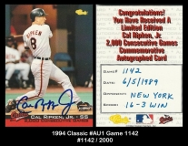 1994 Classic #AU1 Game 1142