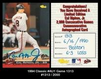 1994 Classic #AU1 Game 1313