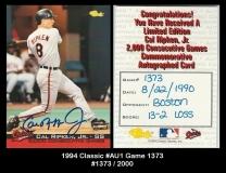 1994 Classic #AU1 Game 1373