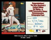 1994 Classic #AU1 Game 1399