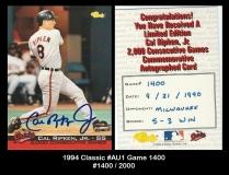 1994 Classic #AU1 Game 1400