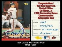 1994 Classic #AU1 Game 1428