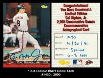 1994 Classic #AU1 Game 1430