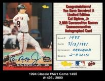 1994 Classic #AU1 Game 1495