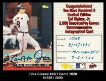 1994 Classic #AU1 Game 1529